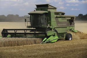 Deutz-Fahr combine harvester working