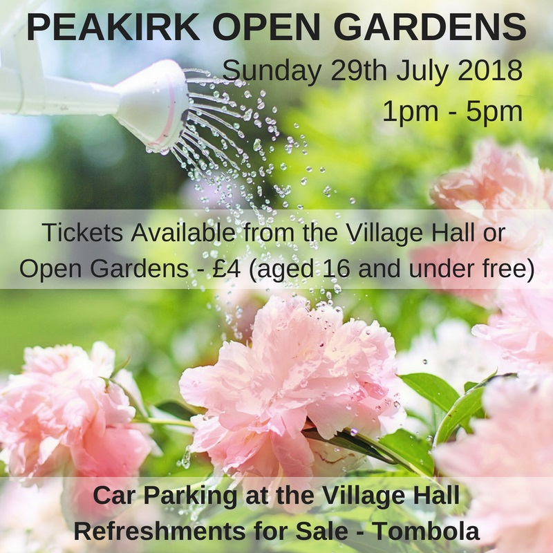 PEAKIRK OPEN GARDENS 29th JULY