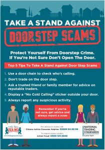 Doorstep scam pamphlet