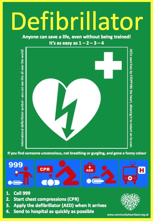 Community defibrillator installed at village hall